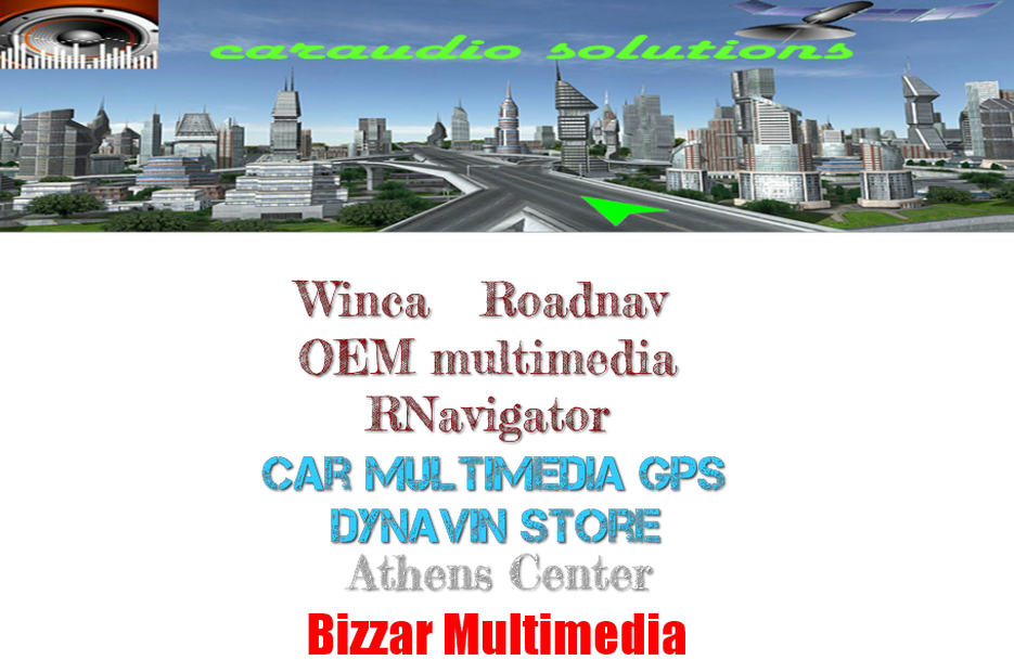 Caraudio Solutions - Dynavin-RNavigator-Winca-Roadnav-AQ Navi-Bizzar-Car Navigation GPS Systems OEM Multimedia Car Digital TV